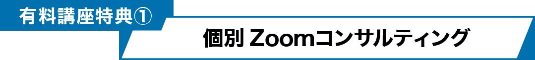 有料講座特典① 個別Zoomコンサルティング